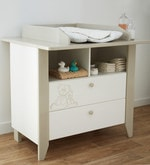 McBaloo Changing Table cum Storage Chest in Velvet White Finish