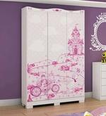 McCindy Three Door Wardrobe in Baby Pink Colour