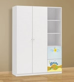 McPercy Large Two Door Wardrobe with Two Drawers in Blue Colour