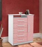 McPia Changing Table in Rose Pink