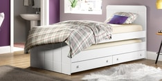 McBruno Single Bed with Pull Out & Storage