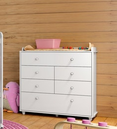 McAdam Chest Of Six Drawers In White Finish