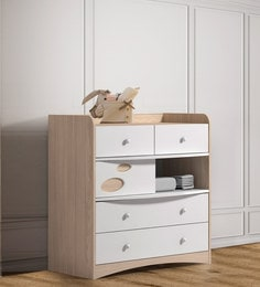 McElla Chest Of Four Drawers In Fendi & White Finish
