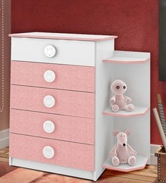 McPia Chest Of Five Drawers In Rose Pink