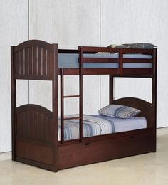 McXander Bunk Bed with Pull Out Bed in Wenge Finish