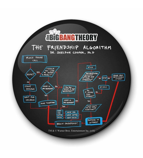 Multicolour Iron Official The Big Bang Theory The Friendship Algorithm  Fridge Magnet Licensed By Warner Bros