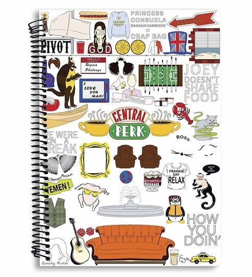 buy mc sid razz paper friends tv series doodle multi subject notebook online stationery. Black Bedroom Furniture Sets. Home Design Ideas