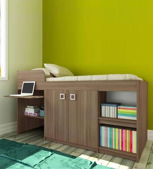 Buy Mcbruno Multi Functional Storage Bed In Brown Oak By