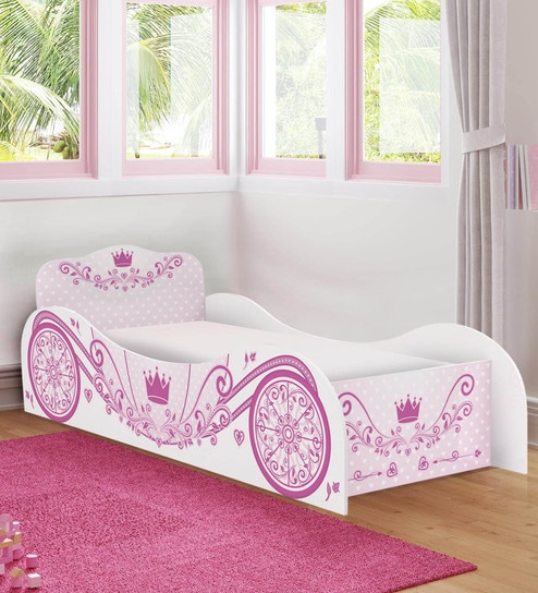 Buy McCindy Cindrella Carriage Bed in Baby Pink Colour by ...