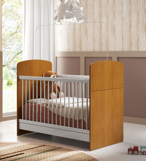 buy mchazel convertible baby crib in satin white honey finish by mollycoddle online cribs. Black Bedroom Furniture Sets. Home Design Ideas