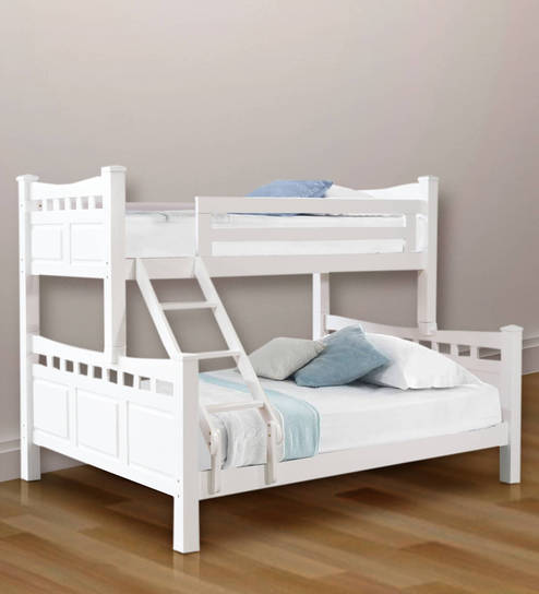 Buy McLiam Queen Bunk Bed in White Finish by Mollycoddle Online ...