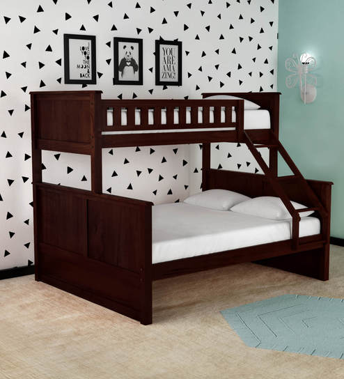 Buy Mctaylor Bunk Bed Single Queen In Wenge Finish By