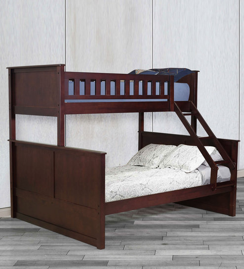 McTaylor Bunk Bed (Single & Queen) in Wenge Finish by Mollycoddle