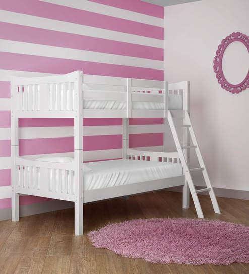 Buy Mcuno Kids Bunk Bed In Grey Finish By Mollycoddle Online Bunk