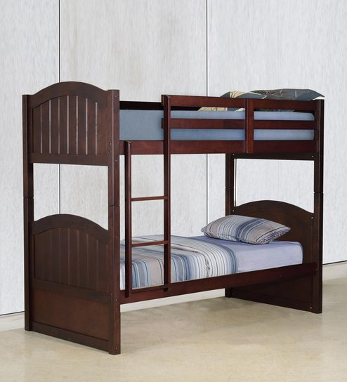 McXander Bunk Bed in Wenge Finish by Mollycoddle