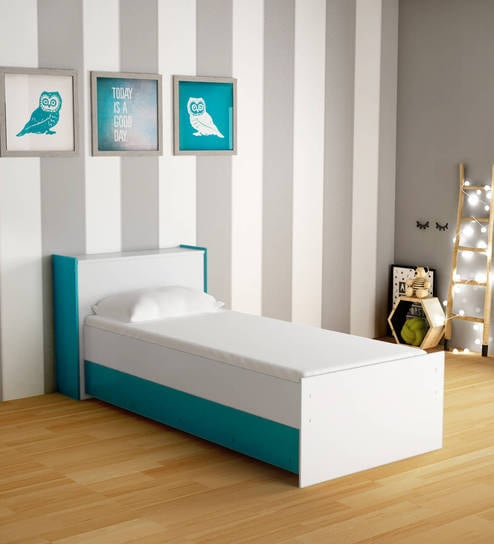 Buy Mczoe Trundle Bed With Headboard Storage In Green White Satin