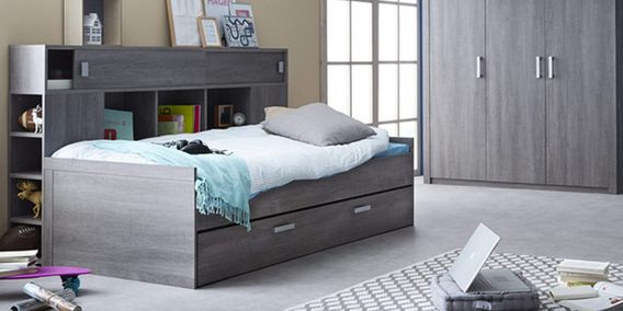 Remarkable Mctyler Teen Bed With Trundle Storage In Prata Oak Finish By Mollycoddle Download Free Architecture Designs Viewormadebymaigaardcom