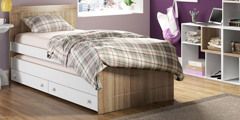 McBruno Single Bed with Pull Out & Storage by Mollycoddle