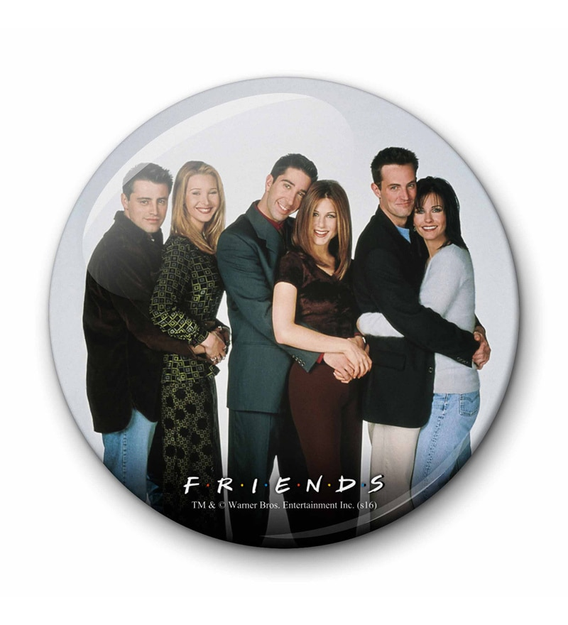 MC SID RAZZ Multicolour Metal Official Friends Hugging Fridge Magnet Licensed by Warner Bros USA
