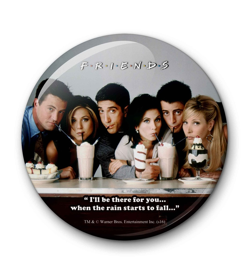 Multicolour Metal Official Friends Straw Fridge Magnet Licensed by Warner Bros USA by MC SID RAZZ