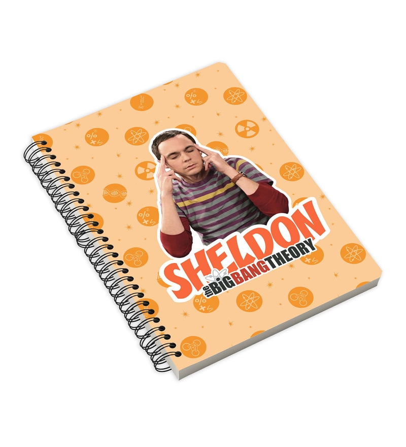 MC SID RAZZ Multicolour Paper Official The Big Bang Theory Sheldon Notebook Licensed by Warner Bros USA