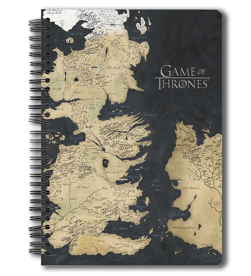 MC SID RAZZ Paper Redwolf Official Game Of Thrones Westeros Map Notebook