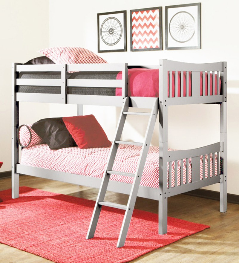 McUno Kids Bunk Bed in Grey Finish by Mollycoddle