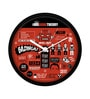 Multicolour Plastic 12 Inch Round Official The Big Bang Theory Infographic Wall Clock Licensed by Warner Bros USA by MC SID RAZZ