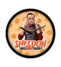 Multicolour Plastic 12 Inch Round Official The Big Bang Theory Sheldon Wall Clock Licensed by Warner Bros USA by MC SID RAZZ