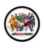 MC SID RAZZ Multicolour Plastic 12 Inch Round Official The Big Bang Theory Superhero's Wall Clock Licensed by Warner Bros USA