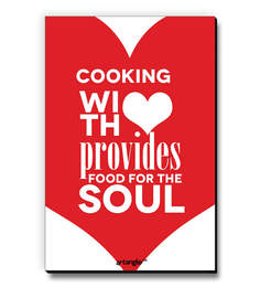 MDF Cooking With Love Provides Food For The Soul Fridge Magnet