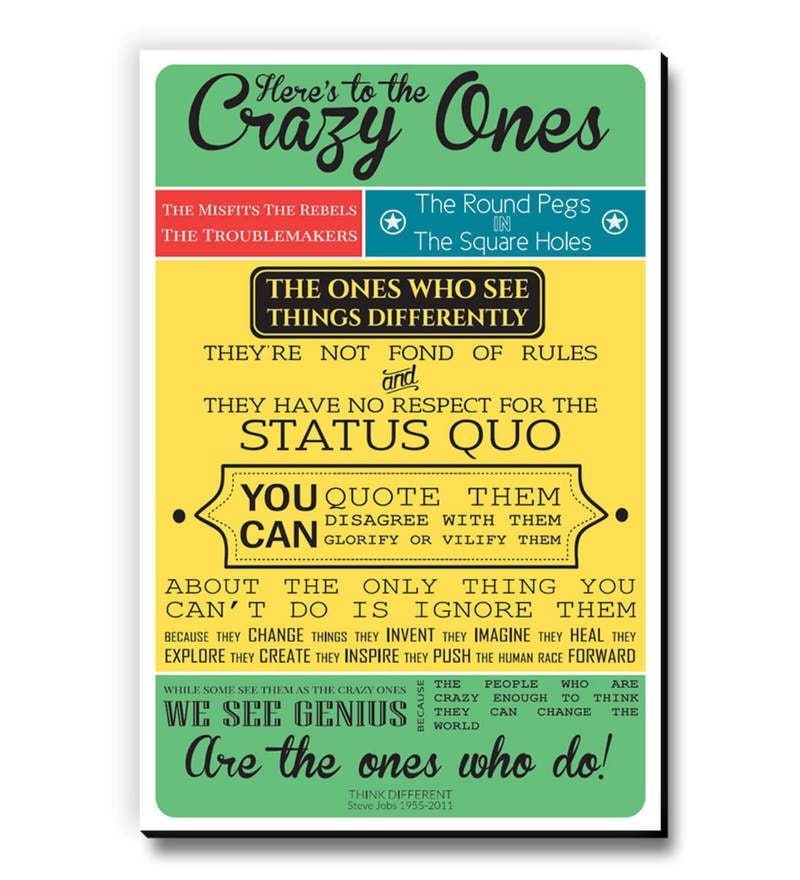 MDF The Ones Who See Things Differently Fridge Magnet by Seven Rays