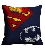 Batman & Superman Logo Digitally Printed Cushion Cover
