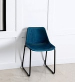 Medina Ink Blue Color Leather Accent Chair