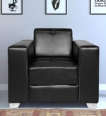 Merveille One Seater Sofa in Black Leatherette