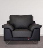 Mesa One Seater Sofa in Smoke Grey & Eerie Black Colour