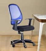 Mesh Mid-Back Ergonomic Chair in Blue and Black Colour