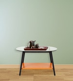 Metallic Centre Table with Black Frame