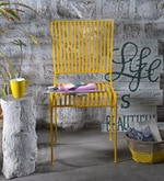 Lisheen Outdoor Iron Chair in Yellow Color