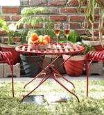 Lisheen Outdoor Iron Table in Red Color