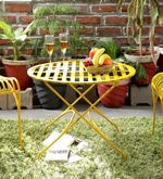 Lisheen Outdoor Iron Table in Yellow Color