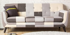 Medellin Three Seater Sofa in Grey Multi Colour