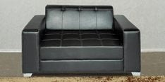 Merveille Two Seater Sofa in Black Leatherette