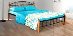 Georgia Metallic Queen Size Bed