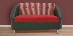 Mexico Two Seater Sofa in Red & Black Colour
