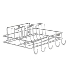 Meded Stainless Steel Wall Mounted Rack Stand For Cups & Plates