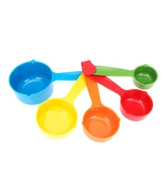 Merahomestore Yangli Multicolour Plastic Measuring Big Spoons - Set Of 5