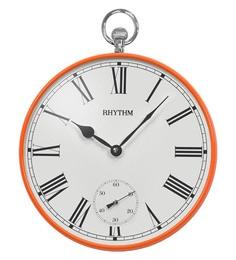 Metal 14.2 X 1.8 X 15.2 Inch Wall Clock Convex Glasssub-Second Hand Metal Case Clock - 1623297