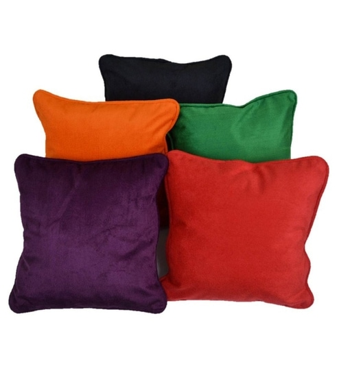 Me Sleep Multicolor Cushion Cover Set of Five 30 cms X 30 cms by