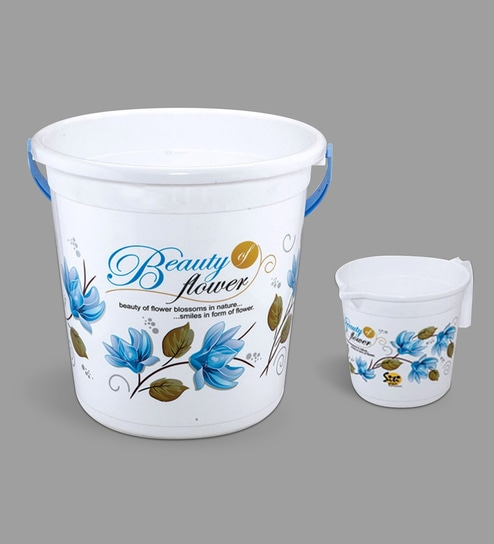 Plastic 2 Pcs Bucket Set In Orted Colour By Meded